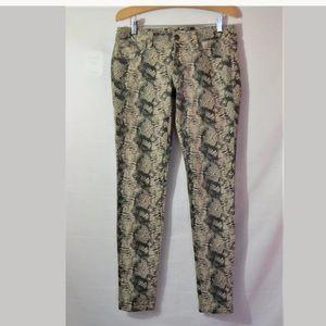 CAbi Style# 958 Snake Print Skinny Jeans Size 2